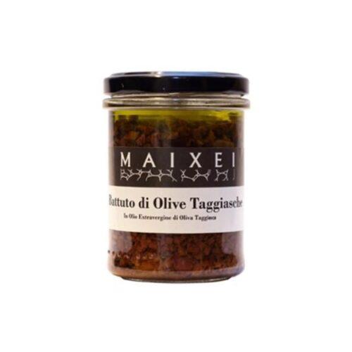 Battuto di Olive Taggiasche in Olio Extra Vergine di oliva Taggiasca maixei